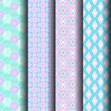 Testes padrões geométricos rosa e azul Imagem de Stock