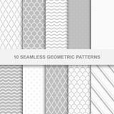 10 testes padrões geométricos sem emenda Fotografia de Stock Royalty Free