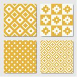 Testes padrões geométricos sem emenda amarelos ilustração royalty free