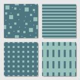 Testes padrões geométricos sem emenda verdes ilustração stock