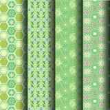Testes padrões geométricos verdes Foto de Stock Royalty Free