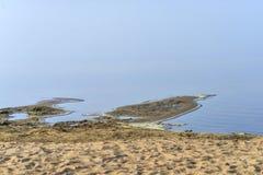 Testes padrões, goivaduras em dunas de areia, sulcos e ilha fotos de stock royalty free