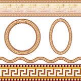 Testes padrões gregos da beira Fotos de Stock
