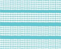 Testes padrões horizontais brancos das pérolas no fundo de turquesa ilustração royalty free