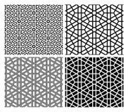 Testes padrões islâmicos do mosaico ilustração do vetor