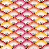 Testes padrões japoneses do fã Imagens de Stock