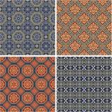 Testes padrões japoneses tradicionais do vetor Fotos de Stock Royalty Free