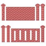 Testes padrões marrons da parede de tijolo ilustração stock