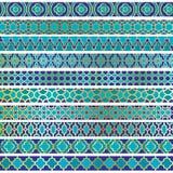 Testes padrões marroquinos da beira imagens de stock