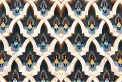Testes padrões marroquinos na pedra Flor de pedra Imagem de Stock