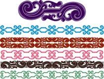 Testes padrões medievais Filigree ajustados ilustração stock