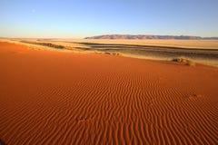 Testes padrões na areia Imagens de Stock