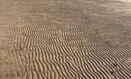 Testes padrões na areia em uma praia fotografia de stock