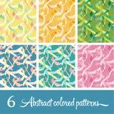 6 testes padrões olored de Ñ  abstrato Foto de Stock Royalty Free