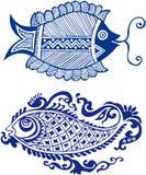 Testes padrões orientais feericamente dos peixes Foto de Stock Royalty Free