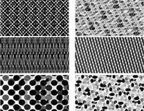 Testes padrões preto e branco Imagem de Stock Royalty Free