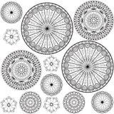 Testes padrões preto e branco Fotos de Stock