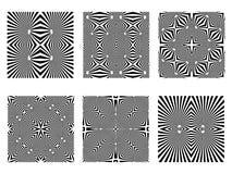 Testes padrões preto e branco Imagem de Stock