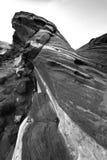 Testes padrões preto e branco da rocha da onda do fogo Fotos de Stock Royalty Free