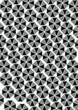 Testes padrões preto e branco do guarda-chuva Fotografia de Stock Royalty Free