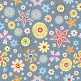 Testes padrões repetidos sumário da flor ilustração do vetor