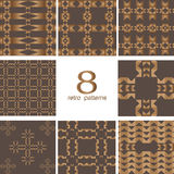 8 testes padrões retros Fotografia de Stock Royalty Free