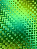 Testes padrões retros - círculos verdes Fotos de Stock