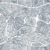 Testes padrões sem emenda abstratos com as ondas desenhados à mão e as linhas da garatuja Fotografia de Stock