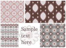 Testes padrões sem emenda ajustados Fotografia de Stock
