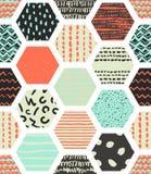 Testes padrões sem emenda coloridos com favos de mel Foto de Stock Royalty Free