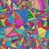 Testes padrões sem emenda com as ondas desenhados à mão e as linhas da garatuja ilustração do vetor