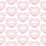 Testes padrões sem emenda com corações ilustração royalty free
