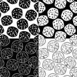 Testes padrões sem emenda com dados Ilustração do Vetor