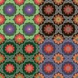Testes padrões sem emenda com elementos florais Fotografia de Stock Royalty Free