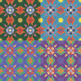Testes padrões sem emenda com elementos florais Foto de Stock