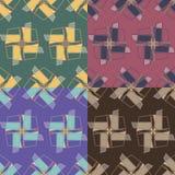 Testes padrões sem emenda com elementos geométricos Imagens de Stock Royalty Free