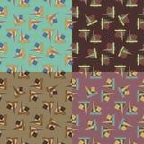 Testes padrões sem emenda com formas geométricas Fotos de Stock