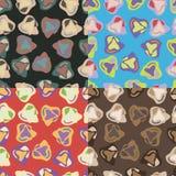 Testes padrões sem emenda com formas geométricas irregulares Imagem de Stock