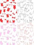 Testes padrões sem emenda com roupa interior Foto de Stock Royalty Free