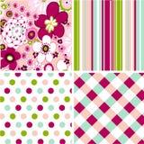 Testes padrões sem emenda com textura da tela Imagem de Stock
