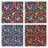 Testes padrões sem emenda com textura da tela As linhas espirais ajustaram o fundo colorido Foto de Stock