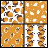 Testes padrões sem emenda da bolota ajustados Imagem de Stock Royalty Free