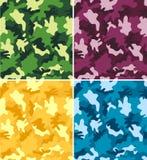 Testes padrões sem emenda da camuflagem colorida Fotografia de Stock Royalty Free