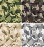 Testes padrões sem emenda da camuflagem diferente Fotografia de Stock