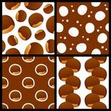 Testes padrões sem emenda da castanha ajustados Fotografia de Stock Royalty Free