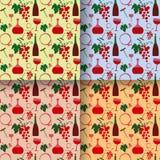 Testes padrões sem emenda da cor de vinho Imagem de Stock Royalty Free