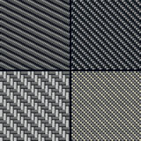 Testes padrões sem emenda da fibra do carbono ajustados Imagem de Stock Royalty Free