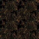 Testes padrões sem emenda da forma do ouro. Fotos de Stock