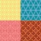 4 testes padrões sem emenda da geometria Imagens de Stock Royalty Free