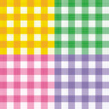 Testes padrões sem emenda da repetição do guingão Foto de Stock